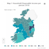Average disposable income in north and west of Ireland €3,240 below State average