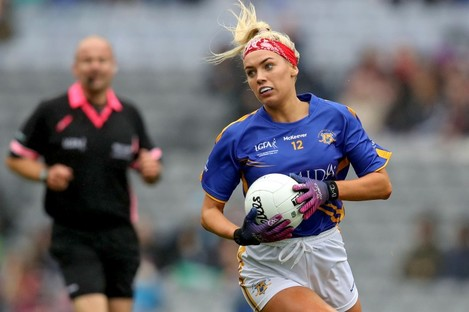 Orla O'Dwyer in action for Tipperary in 2019.