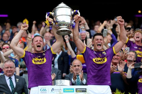 Wexford's Mathew O'Hanlon and Lee Chin in 2019.
