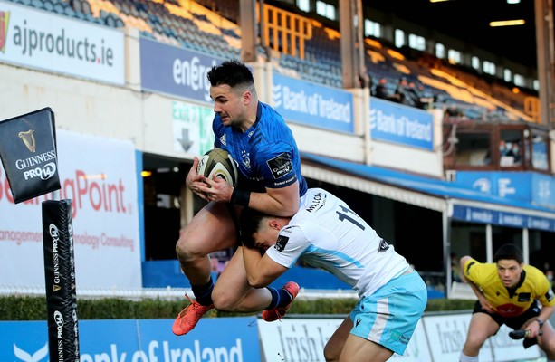Leinster's win over 14-man Glasgow is spoiled by injury to Harry Byrne