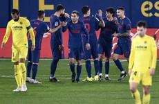 Atletico hold La Liga rivals at bay with tight Villarreal win