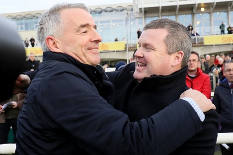 File photo of Michael O'Leary (left) with Gordon Elliott.