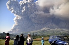 Volcanic eruption in Indonesia spews columns of ash thousands of metres into the sky