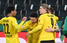 Sancho fires Dortmund into German Cup semi-finals