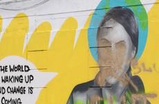 Mural of activist Greta Thunberg in Dublin city centre vandalised