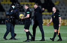 Steven Gerrard sent off at half time of Rangers' victory over Livingston