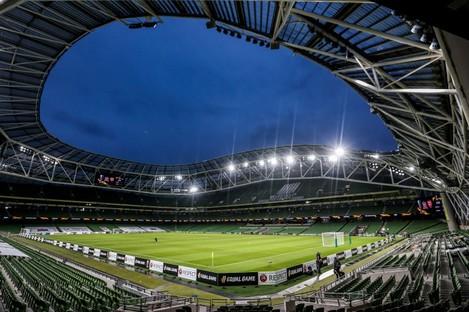 A view of the Aviva Stadium.