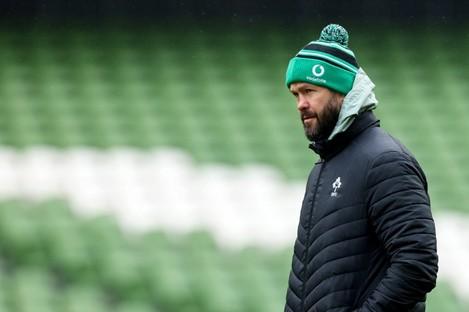 Ireland head coach Andy Farrell.