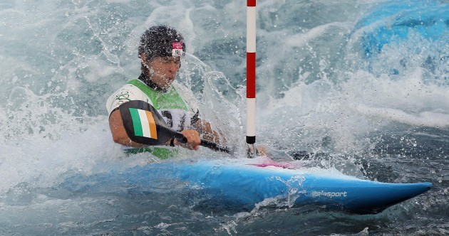 Eoin Rheinisch powers into slalom semi-finals