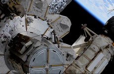 Spacewalkers finish solar panel preparation for station power boost