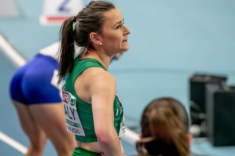What a run: Phil Healy after her 400m final.