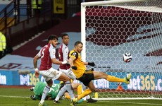 Wolves left to rue Saiss miss in goalless draw at Aston Villa