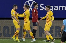 Barcelona crank up pressure on Madrid clubs with Osasuna win