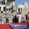 Pope prays for Iraq's war dead in Mosul on last day of tour