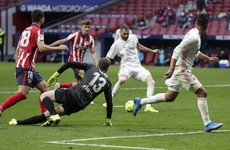 Atletico denied derby victory by late Benzema equaliser for Real