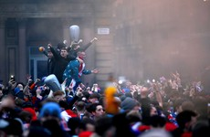 Sturgeon condemns 'infuriating' scenes in Glasgow as Rangers fans gather to celebrate title win