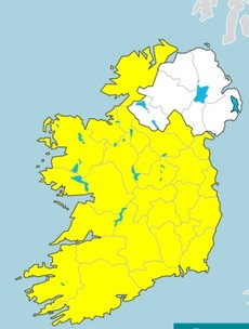 Status Yellow wind warning issued for entire country from tomorrow