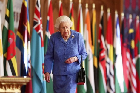 The Queen in Windsor Castle at the weekend.
