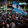 Argentine fans demonstrate to demand 'justice' for Diego Maradona