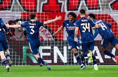 Two late goals give Arsenal control of Europa League tie