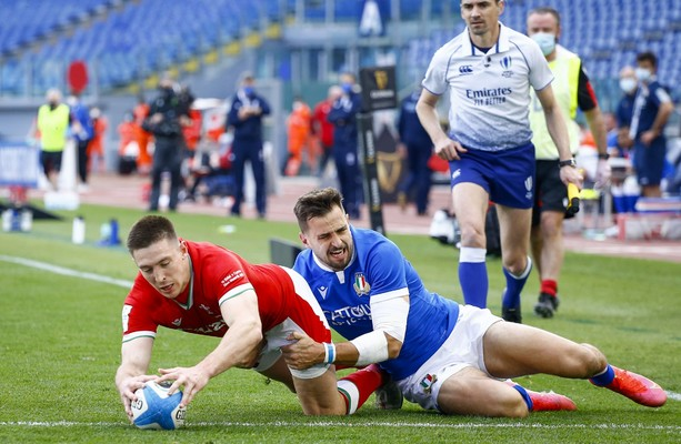 Wales are one win away from a Grand Slam after hammering Italy