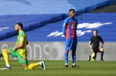 Support for Wilfried Zaha after he becomes the first Premier League player not to take the knee