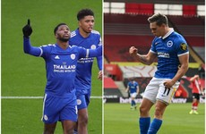 Iheanacho hat-trick as Leicester hammer Sheffield United and Brighton boost survival bid