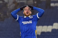 Aaron Connolly 'dealt with internally' by Brighton after Covid bubble breach