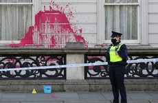 Man and woman charged after government building in Dublin city covered in graffiti