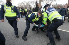 Gardaí make 11 arrests at anti-lockdown protest in Dublin
