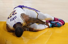 Blow for Lakers as LeBron James faces 'indefinite' injury lay-off with high ankle sprain