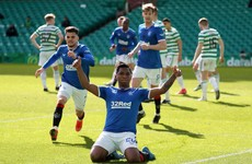 Alfredo Morelos heads Rangers equaliser as champions stay unbeaten at Celtic