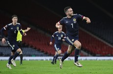 Superb John McGinn overhead kick earns a point against Austria for Scotland