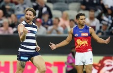 Tuohy and O'Connor star as Geelong enjoy late win over Brisbane in fiery clash