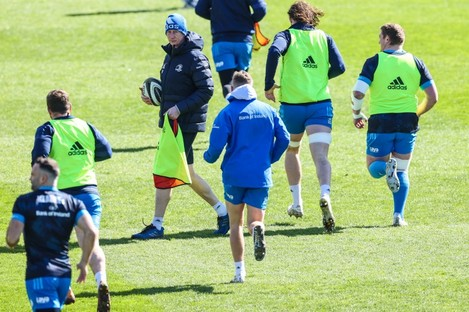 Leinster head coach Leo Cullen during Friday's captain's run at the RDS.