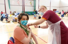 Arlene Foster receives her first Covid-19 vaccine