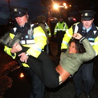 Four arrested after Shell to Sea protesters block convoy