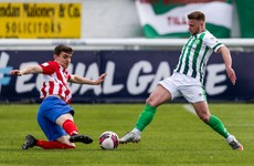 League of Ireland newcomers hold on with 10 men for draw in historic first game
