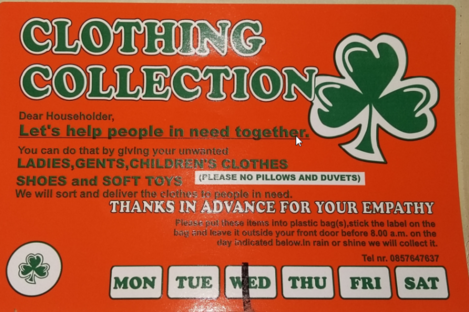 An example of a leaflet from an unregistered charity group.