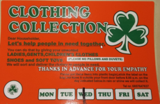 Public urged to be wary of clothing collections by unregistered charities