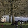 Belgian police clash with large crowd at 'April Fool's' party in Brussels park