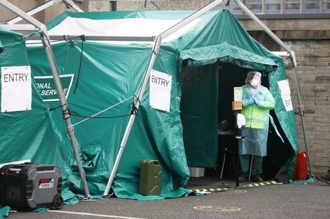 A Covid-19 walk-in testing centre in Finglas, Dublin