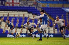 Irish international Scott Hogan's penalty earns Blues win over Swansea