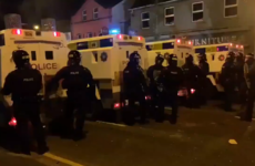 Teenagers aged 13 and 14 among eight arrests during rioting in loyalist area of south Belfast