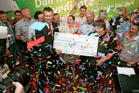 Dan Morrissey Syndicate from Carlow claim Ireland's biggest ever win in 2008. (File)