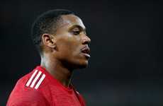 Solskjaer fears knee injury could end Martial's season