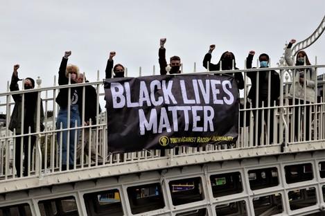 YARI protesting for Black Lives Matter in 2020.