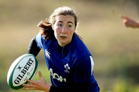 Eve Higgins in training this week.