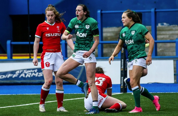 Parsons shines as seven-try Ireland blow Wales away in Cardiff