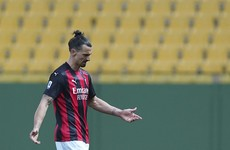 Ibrahimovic sent off for arguing with referee after providing two assists in Milan win